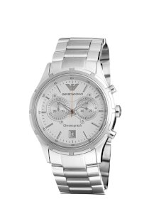 Emporio Armani Quartz, Silver Dial with Stainless Steel Bracelet - Men's Watch AR0534