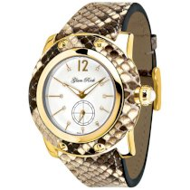 Glam Rock Women's GR10056 Miami Collection Diamond Accented Brown Python Watch