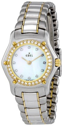 Ebel Women's 1090910-9960P 1911 White Mother-Of-Pearl Dail Watch with Diamonds Watch