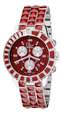 Christian Dior Women's CD11431GM001 Christal Red Sapphire and White Diamond Watch