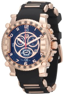 Brillier Men's 02.3.3.1.11.04 Grand Master Tourer Signature Rose-Tone Black Rubber Watch