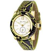 Glam Rock Women's GR40030 Palm Beach Collection Diamond Accented Green Python Watch
