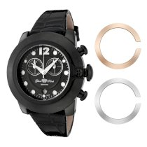 Glam Rock Men's GK1128 Race Track Chronograph Grey Dial Black Silicone Watch