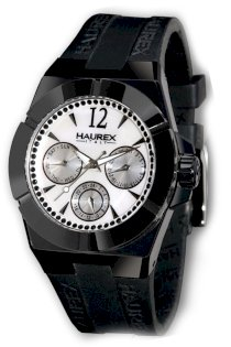 Haurex Italy Women's 1E340DWM Yacht Black PVD Ceramic and Mother-Of-Pearl Watch