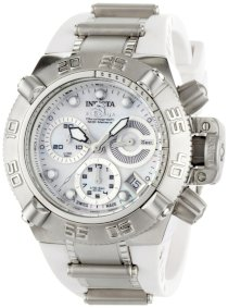 Invicta Women's 0535 Subaqua Noma IV Collection Chronograph Stainless Steel and White Polyurethane Watch