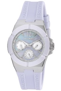 Haurex Italy Men's 1A340DLM Yacht Lilac Mother-Of-Pearl Watch