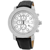 """JBW-Just Bling Men's JB-6116L-A """"Tazo"""" Stainless-Steel Chronograph Genuine Leather Diamond Watch"""