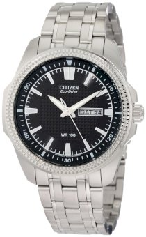 Mens Citizen Eco Drive WR100 Watch in Stainless Steel (BM8490-57E)