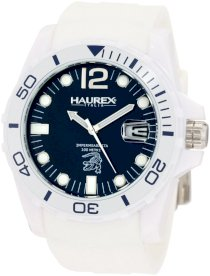 Haurex Italy Men's 8N300UC1 Red Arrow White Dial Black Canvas Tachometer Watch