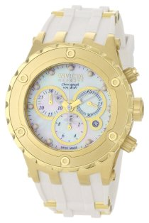 Invicta Men's 0525 Reserve Collection Specialty Chronograph Midsize White Polyurethane Watch