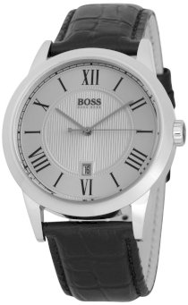 Hugo Boss Gents Stainless Steel Watch with Leather Strap 1512439