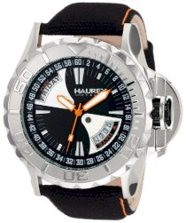 Haurex Italy Men's 8A365UNO Black Sea Day and Date Canvas Strap Sport Watch