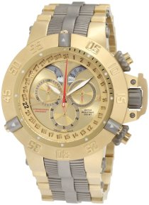 Invicta Men's 1570 Subaqua Noma III Chronograph 18k Gold Ion-Plated Stainless Steel With Titanium Trim Watch