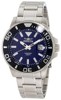 Invicta Men's 1418 Invicta II Blue Dial Stainless Steel Watch