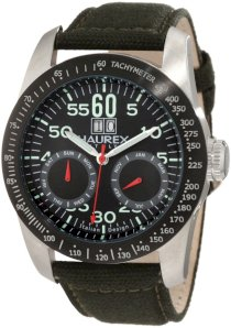 Haurex Italy Men's AD352UN1 Red Arrow Auto Automatic Black Dial Watch