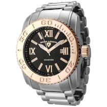 Swiss Legend Men's 10059-11RB Commander Collection Stainless Steel Rose-Tone Bezel Watch