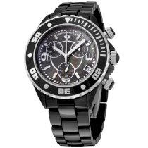 Swiss Legend Men's SL-30050-BKBSR Karamica Collection Chronograph Black Ceramic Watch