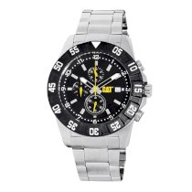 CAT Men's PM14311131 DP Sport Chrono Black Analog Dial with Stainless Steel Bracelet Watch