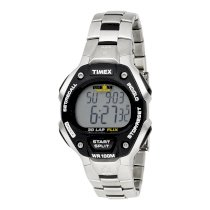 Timex Men's T5H971 Ironman 30-Lap Stainless Steel and Resin Sports Watch