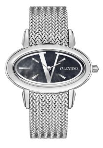Valentino Women's V50SBQ9999S099 Signature Stainless Steel Blue Dial Watch