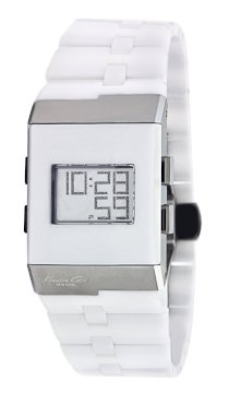 Kenneth Cole New York Women's KC4733 Digi-Tech Digital Roller-Ball White Ceramic Bracelet Watch