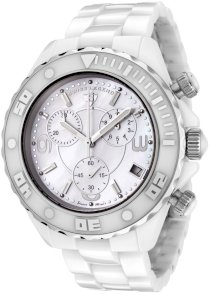 Swiss Legend Men's SL-30050-WWSR Karamica Collection Chronograph White Ceramic Watch