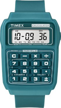 Timex Retro Nigel Blue Calculator Watch T2N190