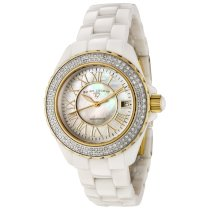 Swiss Legend Women's 20051-WWWGR Karamica White High Tech Ceramic Diamond Watch