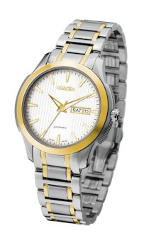 Roamer of Switzerland Men's 716637 47 25 70 Mechaline EOS Automatic Gold IP Day Date Steel Watch