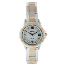 Seiko Women's SUT030 Two Tone Stainless Steel Analog with White Dial Watch