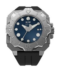 RSW Men's 7050.MS.R1.3.00 Diving Tool Blue Dial Rotating Bezel Water Resistant Rubber Watch
