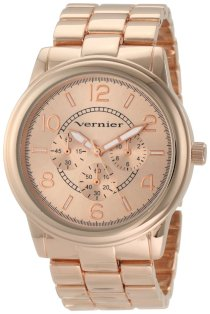 Vernier Women's VNR205 Round Rose-Tone Bracelet Quartz Watch