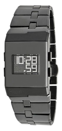 Kenneth Cole New York Women's KC4737 Digi-Tech Digital Roller-Ball Black Ceramic Bracelet Watch