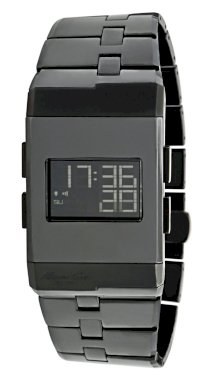 Kenneth Cole New York Men's KC3982 Digi-Tech Digital Roller-Ball Black Ceramic Bracelet Watch