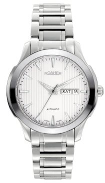 Roamer of Switzerland Men's 716637 41 15 70 Mechaline EOS Automatic Day Date Steel Watch