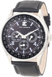 Ted Lapidus Men's 5117301 Black Textured Dial Black Leather Watch