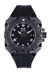 RSW Men's 7050.1.R1.1.00 Diving Tool Rotating Bezel Black Pvd Water Resistant Rubber Watch