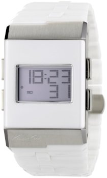 Kenneth Cole New York Men's KC3999 Digi-Tech Digital Roller-Ball White Ceramic Bracelet Watch