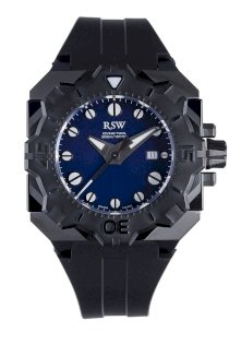 RSW Men's 7050.1.R1.3.00 Diving Tool Black Pvd Rotating Bezel Water Resistant Rubber Watch