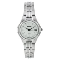 Seiko Women's SUT043 Stainless Steel Analog with White Dial Watch