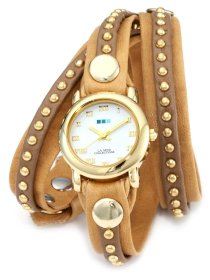 La Mer Collections Women's LMSW3003 Camel Gold Bali Stud Wrap Watch