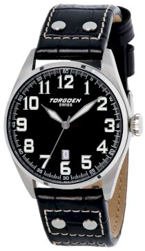 Torgoen Swiss Men's T28101 T28 3-Hand Stainless-Steel Aviation Watch
