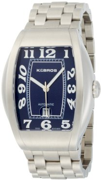 K&Bros Men's 9358-3 Steel Automatic Bold Watch 10ATM