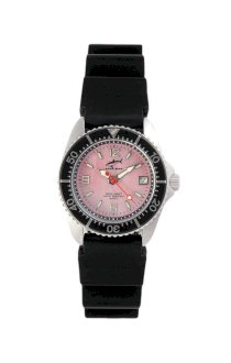 Chris Benz One Lady Pink - Black KB Wristwatch for Her Diving Watch