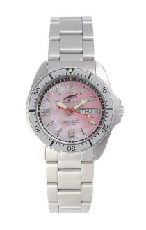 Chris Benz One Medium 200m Pink - Silver MB Wristwatch Diving Watch
