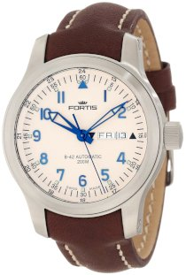 Fortis Men's 645.10.12 L.16 B42 Flieger Automatic Brown Leather Watch