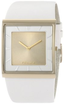 Police Men's PL-11916MSG/06B Skyline-X Gold Dial Silver Leather Watch