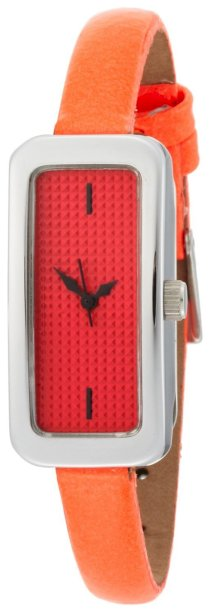 EOS New York Women's 28LORG Cosmo Skinny Neon Orange Watch