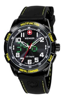 Wenger Men's 70434 LED Nomad Compass Patagonian Expedition Race Watch