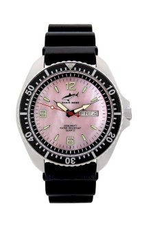 Chris Benz One Man 200m Pink - Black KB Wristwatch for Him Diving Watch